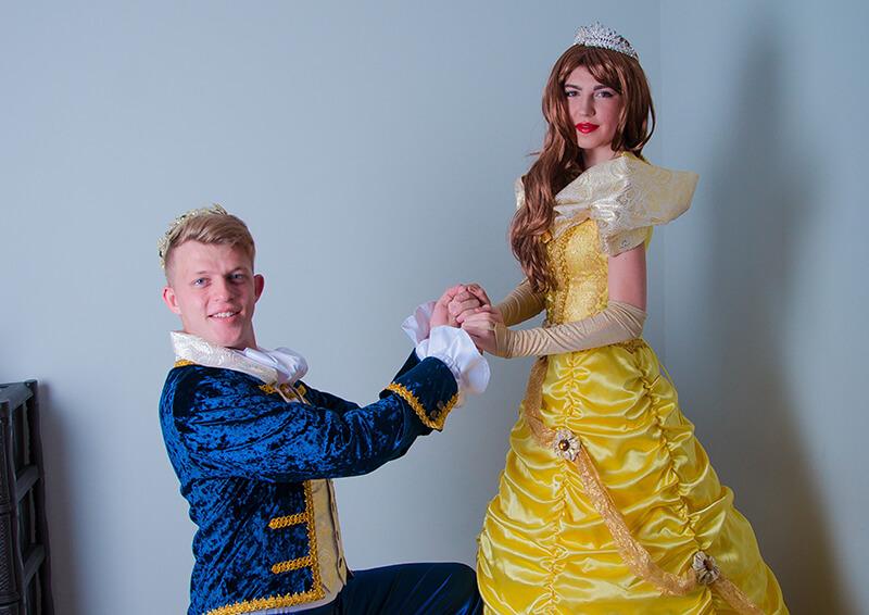 Принцесса Белль и принц аниматоры