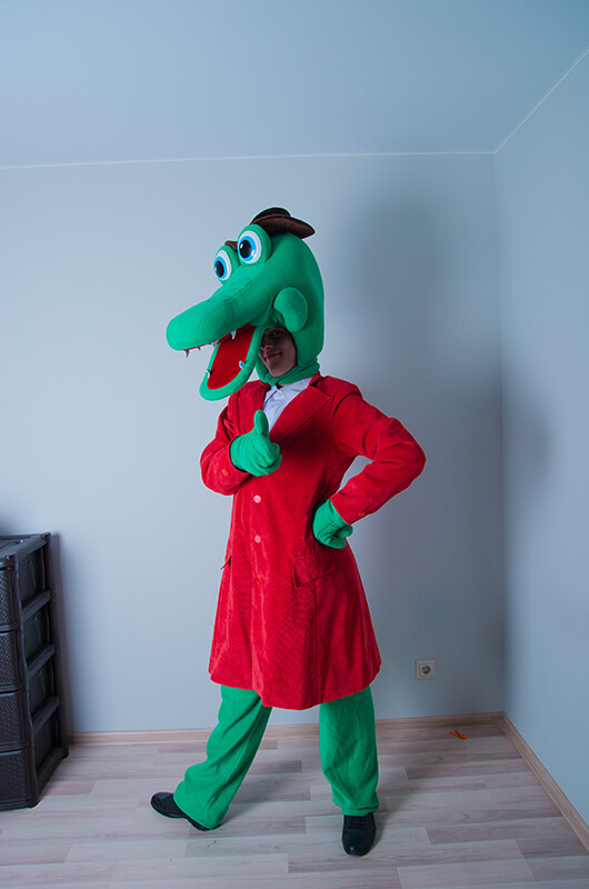 Крокодил гена на детский праздник от 2х лет