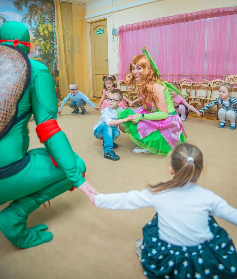 Черепашки ниндзя аниматоры для детей утренник в детском саду