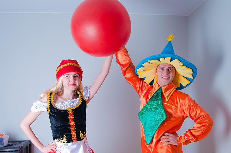 Красная шапочка и Незнайка аниматоры на дом