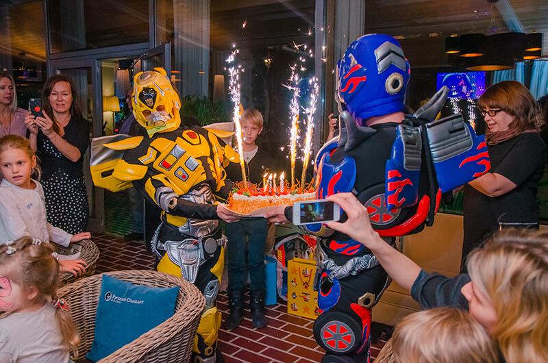 аниматоры трансформеры на детский праздник