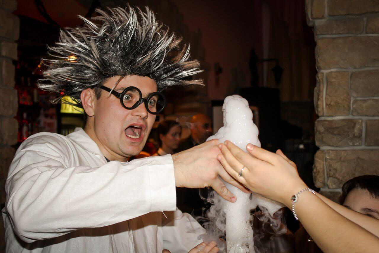 химическое шоу на праздник на дому