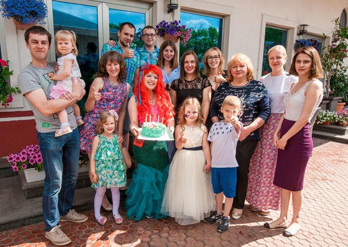 день рождения дочери с русалочкой