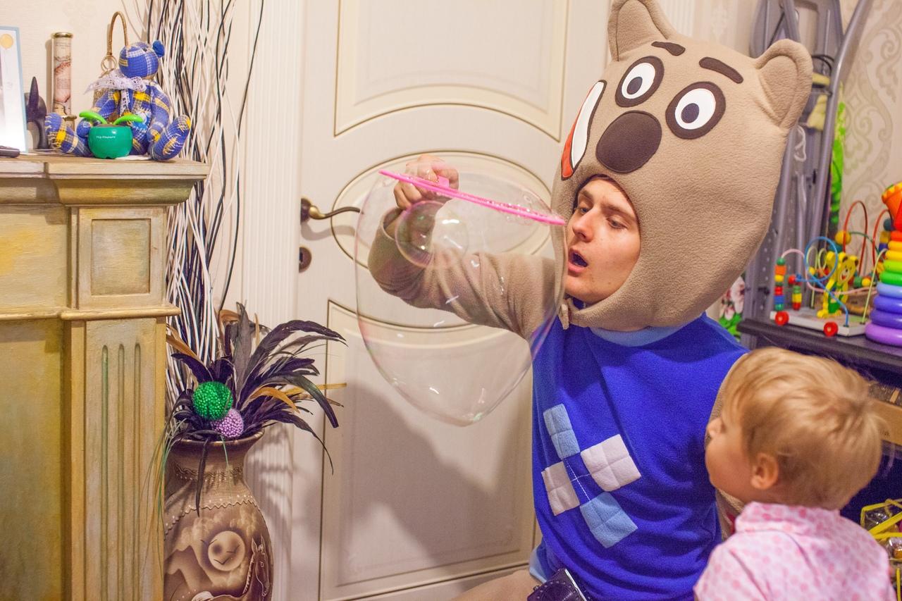 Мини шоу мыльных пузырей для малышей на празднике