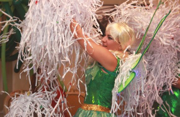 Бумажная дискотека и химическое шоу для детского праздника