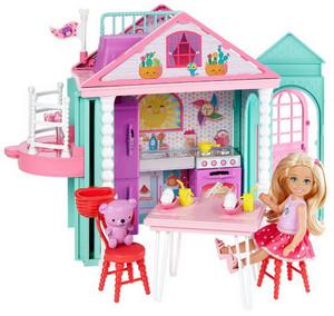 Подарок для девочки на день рождения, кукла с домиком